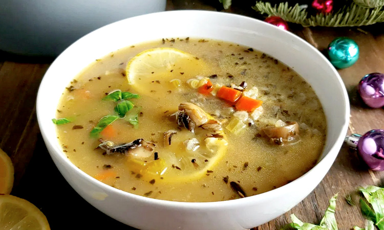 Lemon-Mushroom Soup