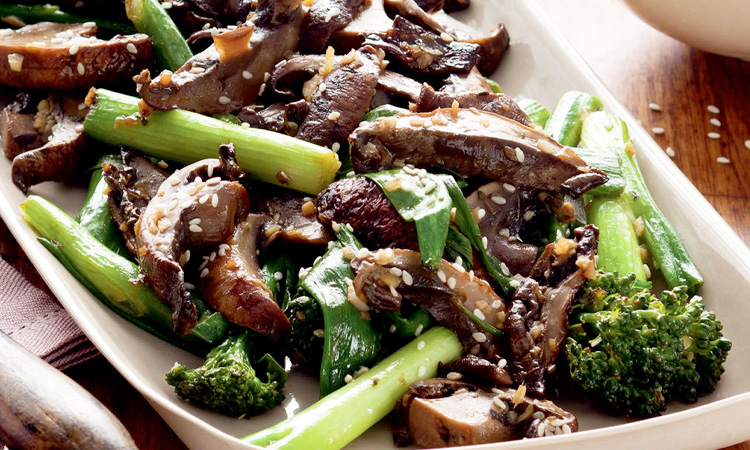 Mushroom and Broccoli Sautéed