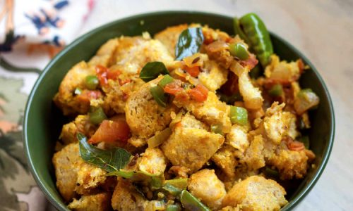 Oats Bread Upma