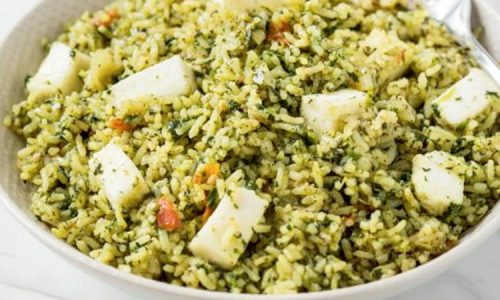 Palak Paneer Rice (Baby And Toddler Recipe)