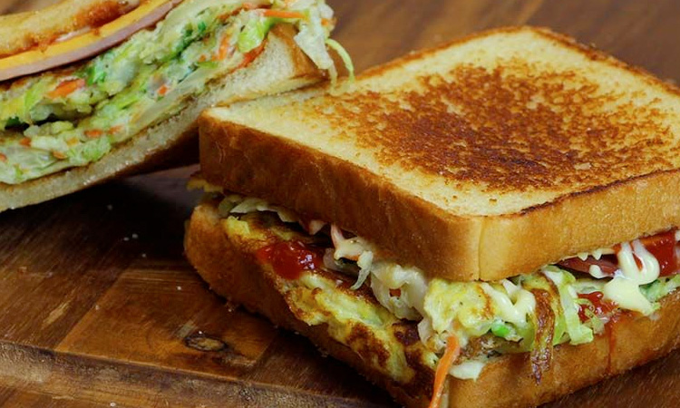 Toasted Cabbage Sandwich