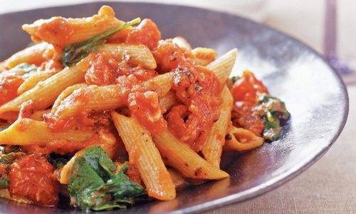 Whole Wheat Pasta In Arrabbiata Sauce