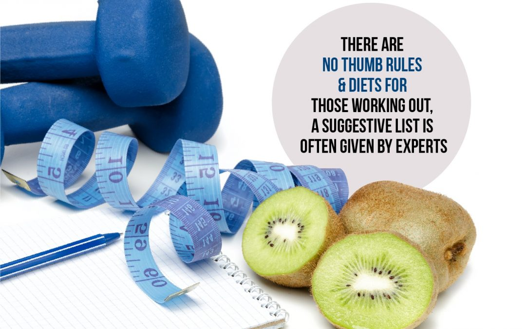 There Are No Thumb Rules & Diets For Those Working Out, A Suggestive List is Often Given by Experts